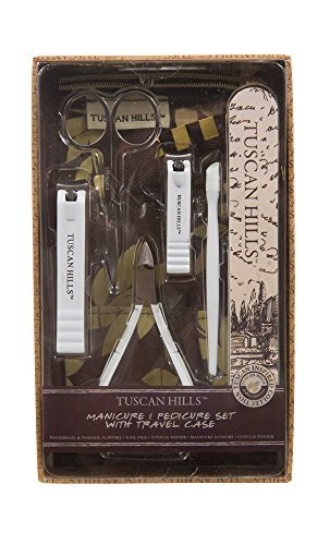 Tuscan Hills Manicure & Pedicure Set with Travel Case by Tuscan Hills by Tuscan Hills