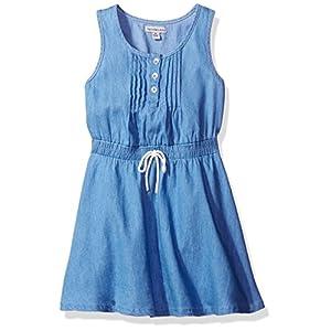 Calvin Klein Girls' Pintuck Dress