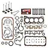 Evergreen FSHBIEV8000 Full Gasket Set Head Bolts Intake Exhaust Valves Fit 86-95 Suzuki Sidekick Samurai Swift 1.3L SOHC G13A / G13BA