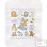 quilt cross stitch kits - Tobin Noah's Ark Baby Quilt - Stamped Cross Stitch Kit - 34 by 43-inch with Gift Card