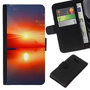 JackGot ( Tramonto Beautiful Nature 97 ) Samsung ALPHA G850 la tarjeta de Crédito Slots PU Funda de cuero Monedero caso cubierta de piel