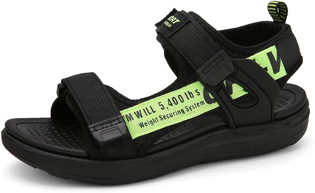 Sandalias Ni/ños con Punta Abierta Zapatos Verano Ni/ño para Playa Deportivas Negro Gris Verde Rojo Talla 28-39 EU