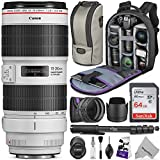 Canon EF 70-200mm f/2.8L is III USM Lens w/Advanced Photo and Travel Bundle
