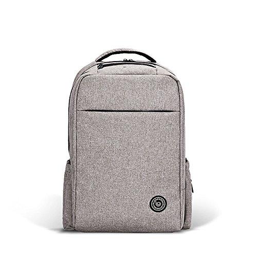 Bolsa de la mamá, de múltiples funciones de gran capacidad hombros bolsa de la madre, bolsa de bebé madre, de gama alta bebé fuera de la mochila ( Color : Negro , Tamaño : 29*16.5*46cm ) Gris