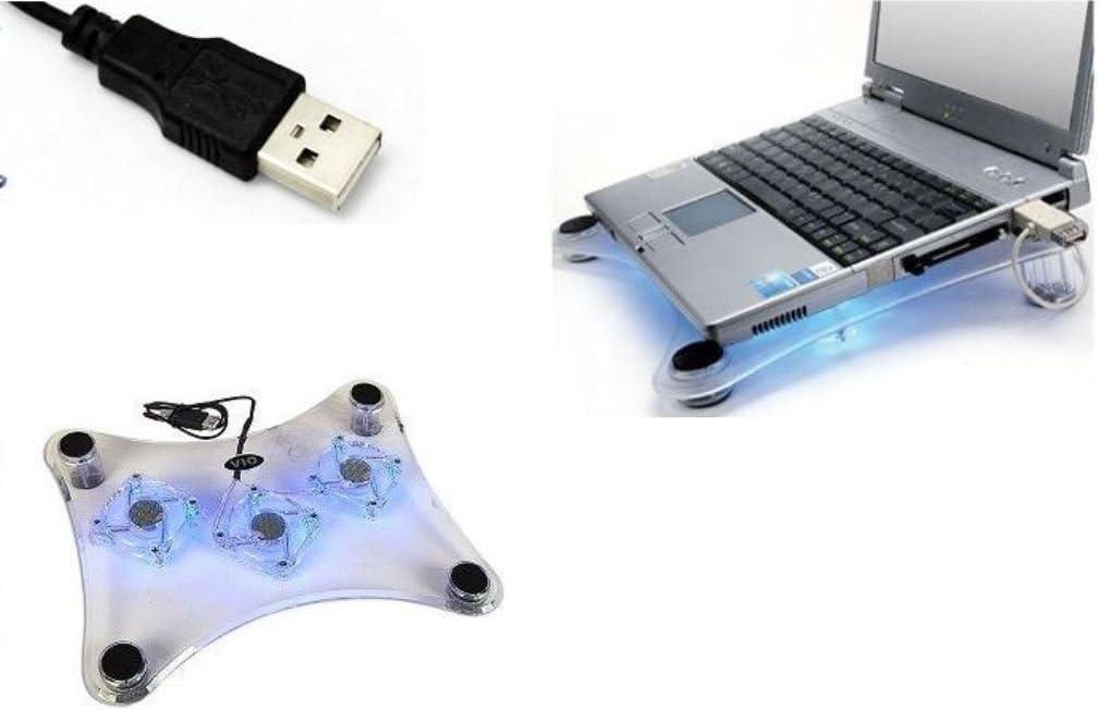 AMGGLOBAL® Ventilador de refrigeración USB con 3 ledes azules para ...