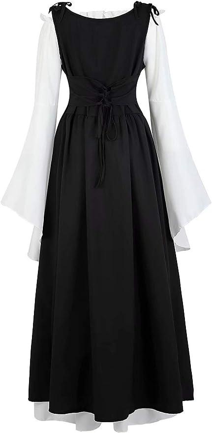 M/édi/évale Renaissance Robes Maxi Parti Costume Vintage D/éguisements Halloween Gothique Femmes Cosplay D/éguisement Carnaval Victorien 2 pi/èces