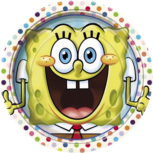 SpongeBob SquarePants Dinner Plates, 8ct -