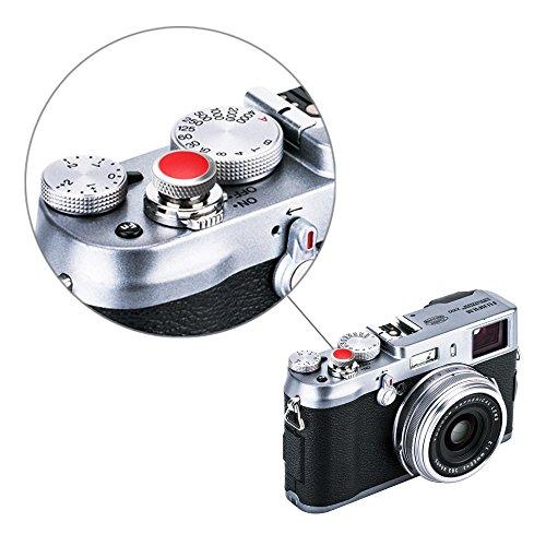 Camera Soft Release Button JJC Shutter Button for Fuji Fujifilm X-T30 X-T20 X-T10 X-T4 X-T3 X-T2 X-PRO3 X-PRO2 X-PRO1 X100V X100S X100T X100F X30 X-E3 X-E2S Sony RX1R RX10 II III IV Leica M10 M-E M-P