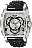 Invicta Men's S1 Rally Stainless Steel Quartz Watch with Leather Calfskin Strap, Black, 26 (Model: 15789)
