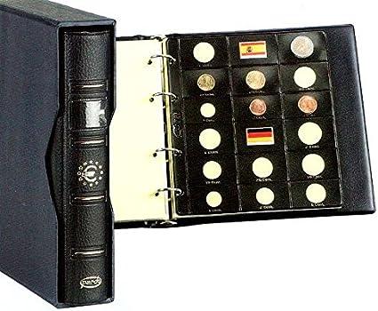 Pardo-Album Pardo para Monedas de Euro color Azul con 8 Fundas modelo 75500: Amazon.es: Hogar