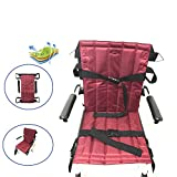 Frjjthchy Medical Lift Sling Stairs Patient Transfer Boards Belt Can Sitting and Lie Down with 2 Safe Belt