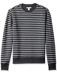 Men's Patterened Crewneck Fleece Sweatshirt