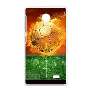 Fire Ball Pattern Custom Protective Hard Phone Cae For Nokia Lumia X