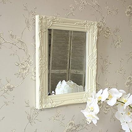 Melody Maison Specchio da parete, colore: panna con cornice ...