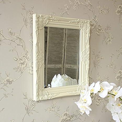 Melody Maison Specchio da parete, colore: panna con cornice: Amazon ...