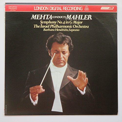 Mehta Conducts Mahler: Symphony No. 4., Israel Philharmonic Orchestra/Zubin Mehta, with Barbara Hendricks, soprano (DIGITAL IMPORTED PRESSING VINYL LP)