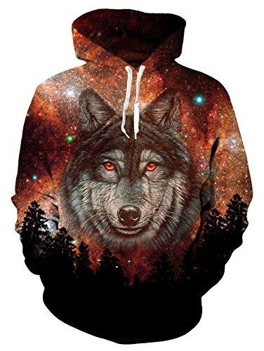 3-D Wolf Hoodie