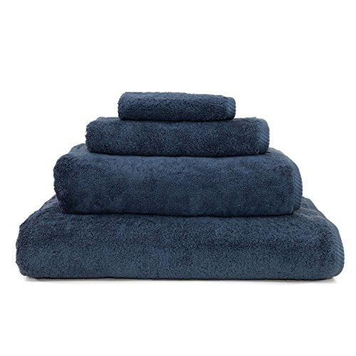 Linum Home Textiles 4 Piece Soft Twist Premium Authentic Soft 100% Turkish Cotton Luxury Hotel Collection Towel Set, Midnight Blue