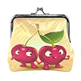 Ethel Ernest Funny Cherry Couple Love Coin Wallets Mini Purse for Womens Girls