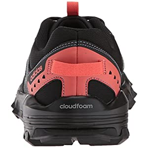 adidas Women's Rockadia w Trail Running Shoe, Carbon/Raw Steel/Trace Scarlet, 7 M US