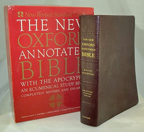 The New Oxford Annotated Bible with the Apocrypha, New Revised Standard Version (Burgundy Leather) (Oxford Annotated Bible Apocrypha)
