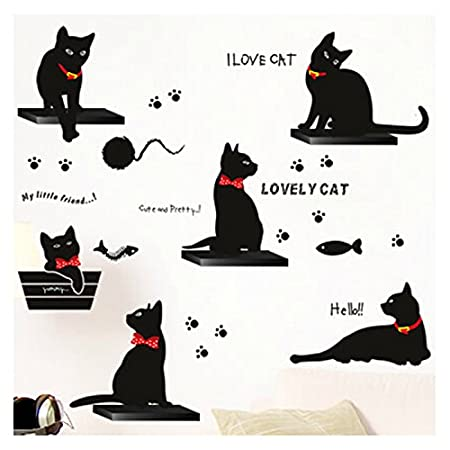 El último grito en negro de familia de gatos de vinilo ...