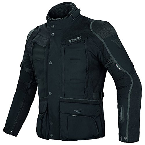 Mens Gore Tex Motorcycle Jacket - Dainese D-Explorer Gore-Tex Mens Jacket Black/Black/Dark Gull Gray 38 USA/48 Euro