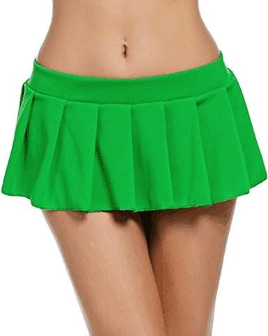 IZHH - Falda - Enaguas - para Mujer Verde Verde 40: Amazon.es ...