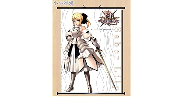 Fate Stay Night Anime Saber Wall Scroll Medium Size 40x60 CM