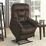 Pulaski DS-A278-016-349 Dark Brown Dual Motor Fabric Lift Chair