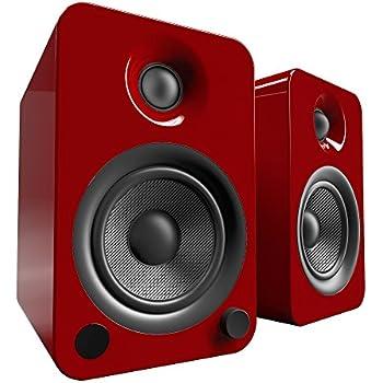 """Amazon.com: Kanto YU3 4"""" 2-Way Powered Bookshelf Speakers"""