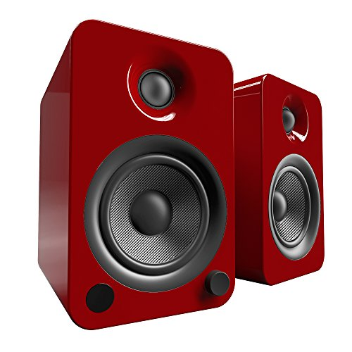 """Kanto 4"""" Wireless 2-Way Bookshelf Speakers (Pair) Gloss red YU4GR"""