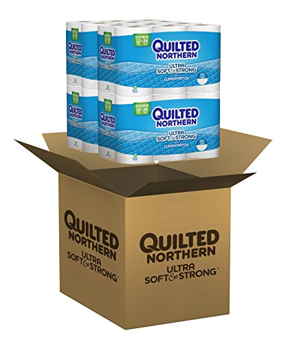Large Product Image of Quilted Northern  Ultra Soft & Strong Toilet Paper with CleanStretch, 48 Double Rolls (Four 12-Roll Packages), Equivalent to 96 Regular Rolls