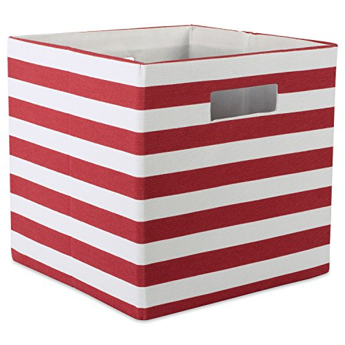 "DII Printed Polyester Storage Bin 13 x 13 x 13"", Stripe Rust, Large,"