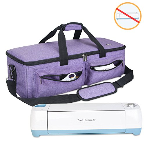 Luxja Carrying Bag Compatible with Cricut Explore Air and Maker, Tote Bag Compatible with Cricut Explore Air and Supplies (Bag Only, Patent Pending), Purple