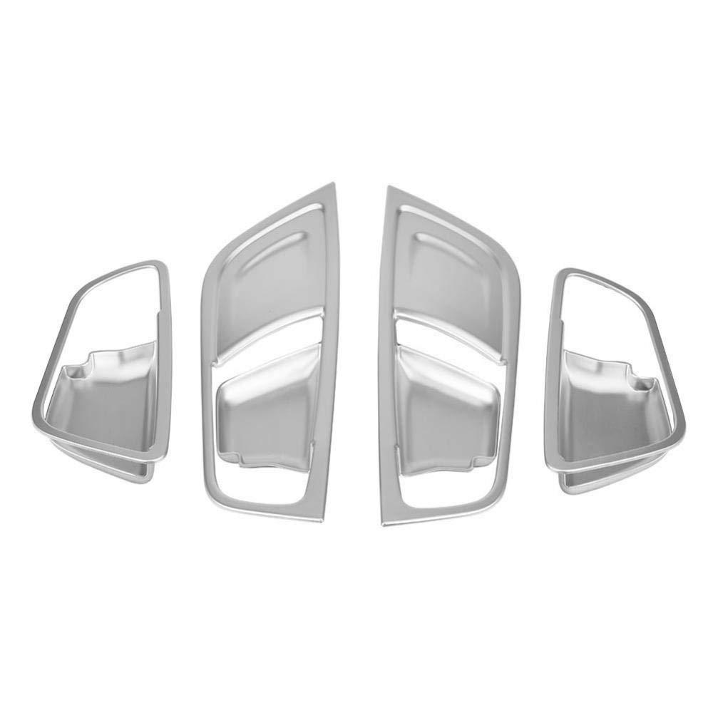 Silber KIMISS 4 St/ücke Innen T/ürgriff Trim Abdeckung Rahmen