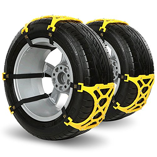 Snow Tire Chain, Car Tire Emergency Thickening Anti--Skid Chain, Fit for Most Car/SUV/Truck, Easy To Install -Set of 6 (Snow Blower Truck compare prices)