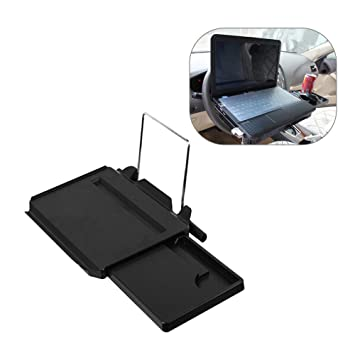 Pagacat Foldable Multifunctional Car Computer Desk Seat With Built In Expand Drawer