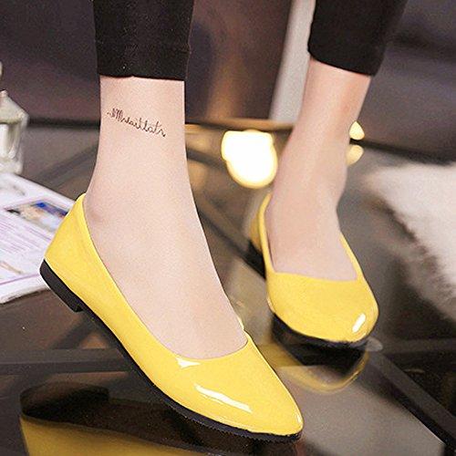 Dames Jaune Sandales des colorées Chaussures sur Plates Taille Chaussures Chaussures Femmes Glissent Femmes Occasionnels Chaussures Yesmile qzZxxtwRp