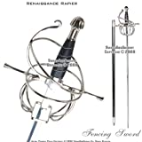 Ace Martial Arts Supply Renaissance Rapier Fencing Sword with Swept Hilt Guard
