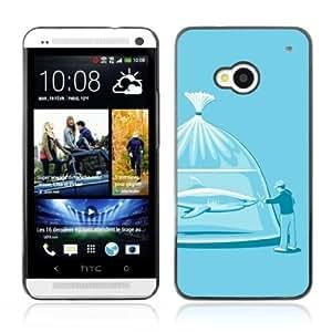 Designer Depo Hard Protection Case for HTC One M7 / Shark