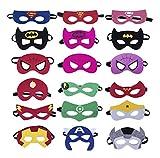 Dlazm Superheroes Party Masks for Children 18 Pieces Superhero Masks Perfect for Children Aged 3+