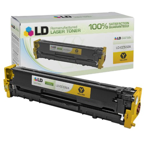 LD Compatible Replacement for HP 304A / CC532A Yellow Toner Cartridge for CM2320fxi, CM2320n, CM2320nf, CP2025dn, CP2025n, CP2025x