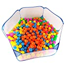 Kakato Hexagon Playpen w/ Mesh & Carry Tote (Balls NOT Included) for Children Baby Infant Kid Child Blue