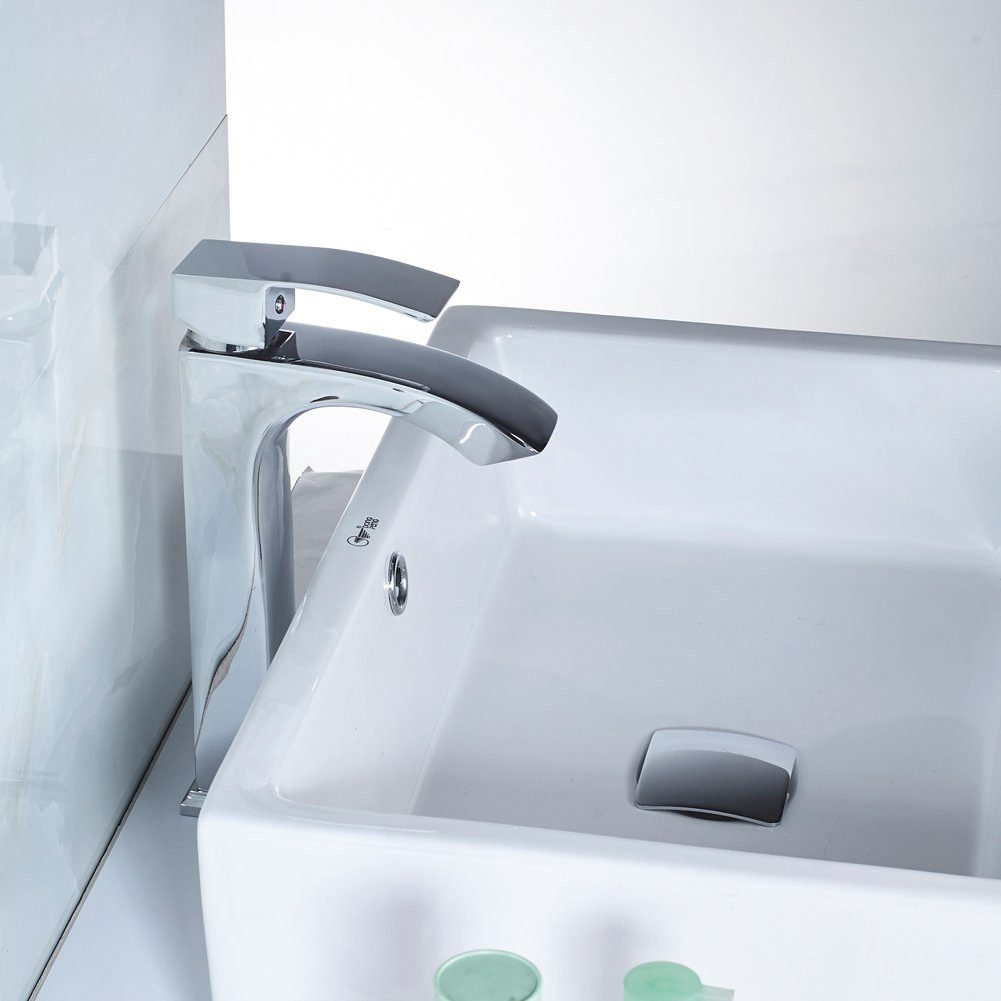 MissMin bathroom sink pop up drain with overflow chrome for vanity ...