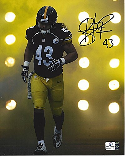 outlet store 30995 7ac02 AUTOGRAPHED Troy Polamalu #43 Pittsburgh Steelers Football ...