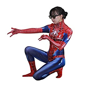 - 51jVvGX8KGL - Rieknic Womens Superhero Spandex Zentai Halloween Cosplay Costumes Adult/Kids