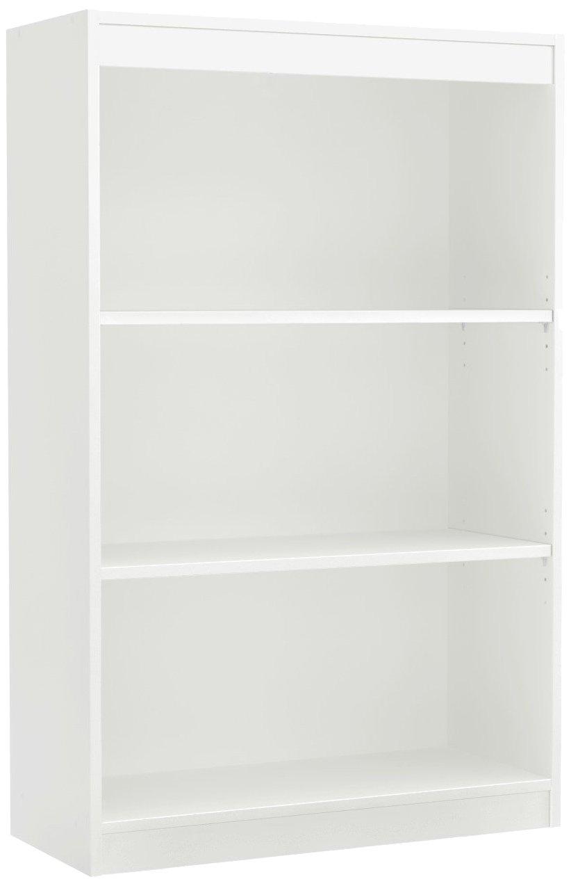 South Shore 3-Shelf Storage Bookcase, Pure White