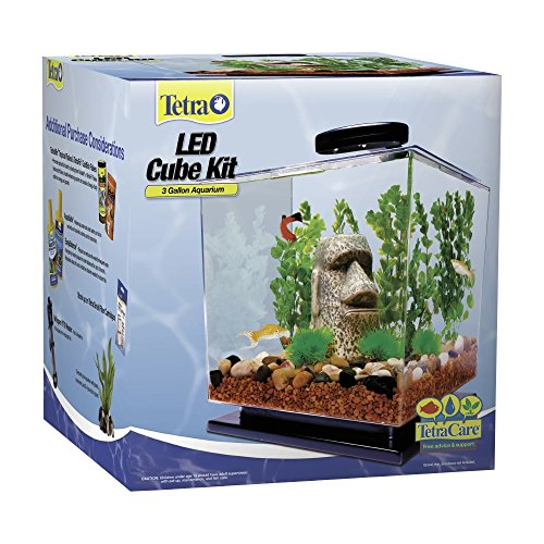 Tetra-LED-Cube-Shaped-3-Gallon-Aquarium-with-Pedestal-Base