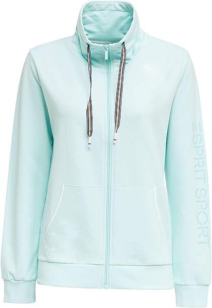 ESPRIT Sports Sweat-Cardigan mit trendy Details
